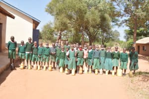 The Water Project: Itulu Primary School -  Students With Water Containers