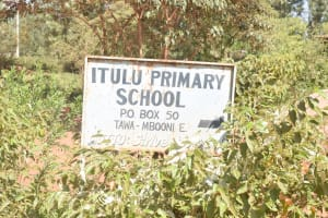 The Water Project: Itulu Primary School -  School Sign