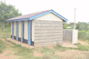 The Water Project: Kako Special School for the Mentally Handicapped -  Boys Latrines