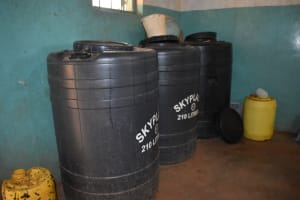 The Water Project: Itabalia Primary School -  Water Storage Drums