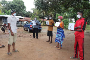 The Water Project: Lungi, New London, Saint Dominic's Catholic Church -  Disease Transmission Exercise
