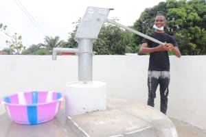 The Water Project: Lungi, New London, Saint Dominic's Catholic Church -  Pumping The Well