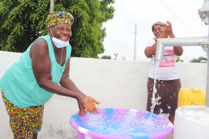 The Water Project: Lungi, New London, Saint Dominic's Catholic Church -  Splashing Safe Reliable Water