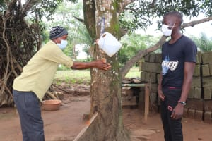 The Water Project: Lungi, New London, Saint Dominic's Catholic Church -  Tippy Tap Demonstration