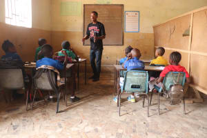 The Water Project: Masoila Jesus is the Way School -  Pupils Inside Classroom