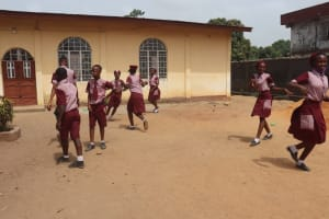 The Water Project: Masoila Jesus is the Way School -  Pupils Outside Classroom