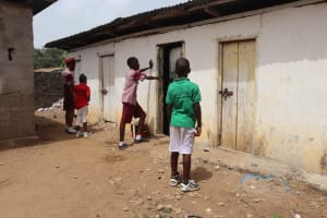 The Water Project: Masoila Jesus is the Way School -  Pupils Waiting To Use Latrine