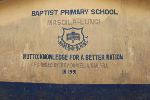 The Water Project: Masoila Gateway Baptist Church and Primary School -  School Sign