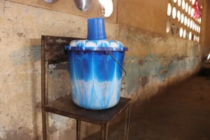 The Water Project: Masoila Gateway Baptist Church and Primary School -  Water Storage At Classroom