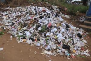 The Water Project: Kulafai Rashideen Primary School -  Garbage Pile In School Compound