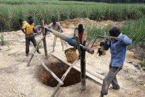 The Water Project: Rubona Kyawendera Community -  Excavation
