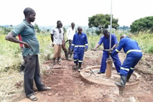 The Water Project: Ejinga Taosati Community -  Installing New Components For Well