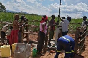 The Water Project: Rubona Kyawendera Community -  Well Construction