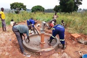 The Water Project: Ejinga Taosati Community -  Well Pad Work