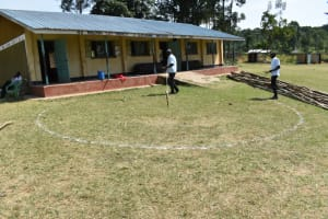 The Water Project: Wavoka Primary School -  Site Marking And Measuring