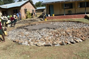 The Water Project: Wavoka Primary School -  Pouring The Concrete Foundation