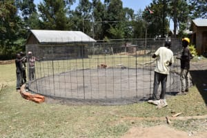 The Water Project: Wavoka Primary School -  Wire Wall Placement