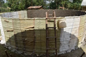 The Water Project: Wavoka Primary School -  Plaster Works Inside The Tank