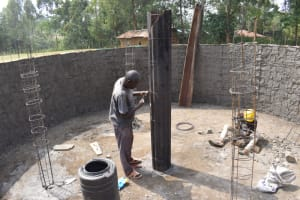 The Water Project: Wavoka Primary School -  Preparing Pillar Forms