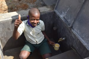 The Water Project: Wavoka Primary School -  Enjoying Clean Water At The Tank
