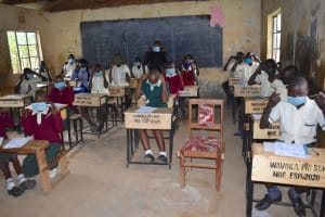 The Water Project: Wavoka Primary School -  Proper Mask Wearing Session