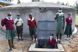 The Water Project: Wavoka Primary School -  Thumbs Up For Clean Water