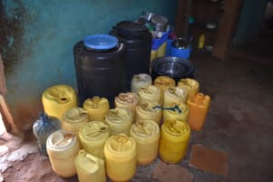 The Water Project: Itabalia Primary School -  Water Storage Inside Kitchen