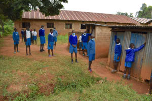 The Water Project: Itabalia Primary School -  Boys At Their Latrines