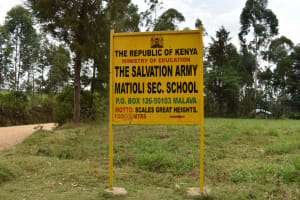 The Water Project: Salvation Army Matioli Secondary School -  School Signpost