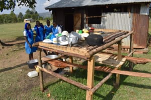 The Water Project: Tande Primary School -  Dish Rack