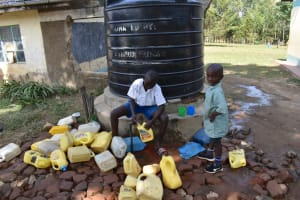 The Water Project: Tande Primary School -  Fetching Water