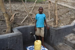 The Water Project: Mukhuyu Community, Gideon Kakai Chelagat Spring -  Stephen At The Spring