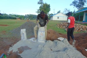The Water Project: Gidimo Primary School -  Mixing Cement