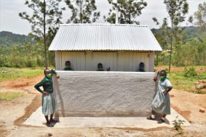 The Water Project: Friends Musiri Primary School -  Posing At Their New Latrines