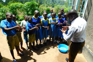 The Water Project: Ibokolo Primary School -  Handwashing Session