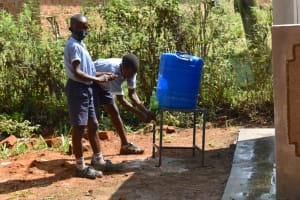 The Water Project: St. Martin's Primary School -  Happy For New Handwashing Stations