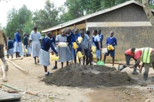 The Water Project: St. Martin's Primary School -  Pupils Deliver Water For Construction