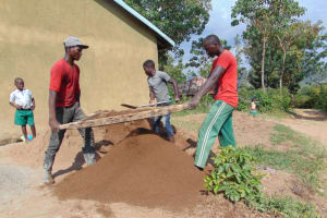 The Water Project: Kitambazi Primary School -  Sieving Sand