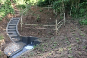 The Water Project: Emutetemo Community, Lubale Spring -  Completed Lubale Spring