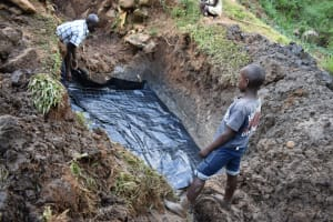 The Water Project: Mushikulu B Community, Olando Spring -  Setting Up The Foundation
