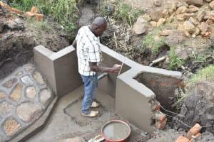 The Water Project: Mabanga Community, Ashuma Spring -  Plastering The Walls