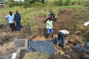 The Water Project: Mabanga Community, Ashuma Spring -  Fitting The Tarp