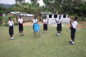 The Water Project: Friends Mixed Secondary School Lwombei -  Girls At Their New Handwashing Station