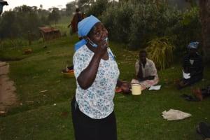 The Water Project: Mukhuyu Community, Gideon Kakai Chelagat Spring -  Dental Hygiene Demonstration