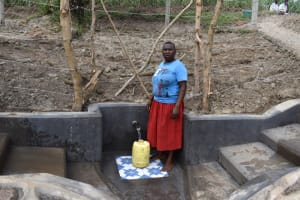 The Water Project: Mukhuyu Community, Gideon Kakai Chelagat Spring -  Jane At The Spring