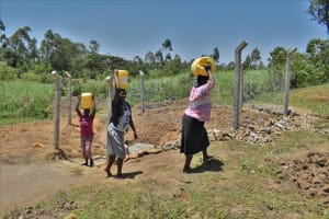 The Water Project: Shianda Commnity, Mukeya Spring -  Clean Water En Route To Use