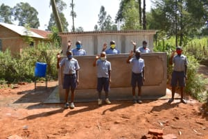 The Water Project: St. Martin's Primary School -  Boys Excited About Their New Vip Latrine Block