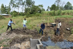 The Water Project: Mabanga Community, Ashuma Spring -  Backfilling With Soil