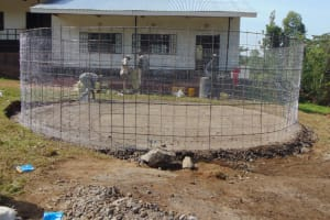 The Water Project: Friends Mixed Secondary School Lwombei -  Reinforced Wire Walling