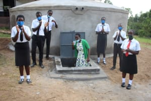 The Water Project: Friends Mixed Secondary School Lwombei -  Drinking Water And Applauding